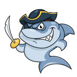 Shark pirate with sabre Royalty Free Stock Photo