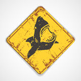 Shark plate Royalty Free Stock Images