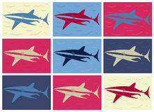 Shark pop art Royalty Free Stock Images