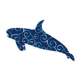 Shark predator color silhouette animal. Vector Illustrator Stock Photography