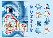 Shark Puzzle Stock Image