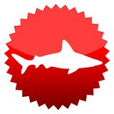 Shark, Red sun sign. Red sun sign shark,  icon Royalty Free Stock Images