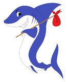 A shark with a red swag Stock Photo