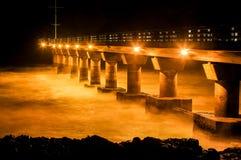 Shark Rock Pier at Night Stock Image
