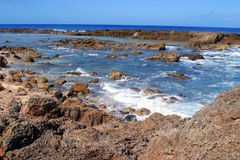 Shark's Cove, Hawaii. The view from Shark's Cove on the North Shore of Oahu, Hawaii Stock Images