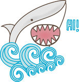 Shark Says Hi. Illustration of a cute shark greeting Royalty Free Illustration