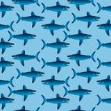 Shark seamless pattern Stock Photo