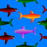 Shark seamless pattern. Royalty Free Stock Photos