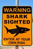 Shark Sighted warning sign. royalty free stock photography