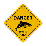 Shark sighting sign Stock Image