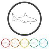 Shark sign, Shark icon, 6 Colors Included. Simple vector icons set Royalty Free Stock Image