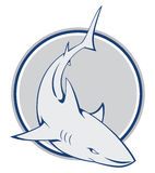 Shark sign. Illustrator design .eps 10 Royalty Free Stock Photos