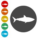 Shark sign, Shark icon. Simple vector icons set Royalty Free Stock Photos