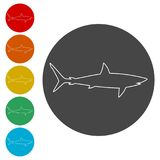 Shark sign, Shark icon. Simple vector icons set Royalty Free Stock Photography