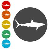 Shark sign, Shark icon. Simple  icons set Stock Photography