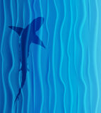 Shark silhouette in blue water. Vector Illustration Stock Image