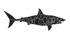 Shark silhouette Stock Photo