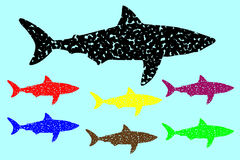 Shark silhouette vector Stock Photo