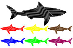 Shark silhouette vector Stock Images