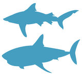 Shark silhouettes vector  on white background Stock Photo