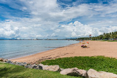 Shark and stinger nets on The Strand beach, Townsville, Australi Stock Photos