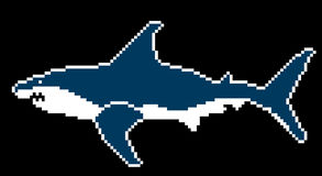 Shark in style pixel Royalty Free Stock Photography