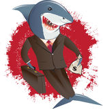 Shark in a Suit Stock Photo