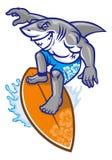 Shark surfer Stock Image