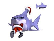 Shark Swallowing Santa Royalty Free Stock Images