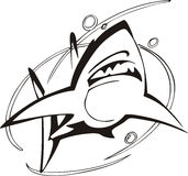 Shark symbol Royalty Free Stock Photo