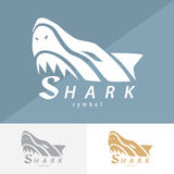 Shark symbol icon design. Royalty Free Stock Photography