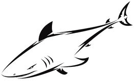 Shark tattoo. For design isolated on white - also as emblem or logo Royalty Free Stock Photo