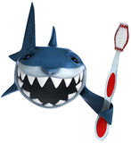 Shark and toothbrush Royalty Free Stock Photos