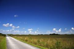 Shark Valley. Hiking & Biking Trail in the Florida Everglades Stock Photo