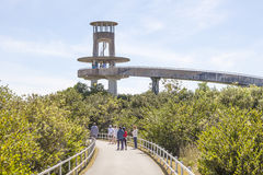 Shark Valley Observation Tower in the Everglades stock photography