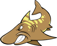 Shark Vector. Mean angry Shark Vector Illustration Royalty Free Stock Photos