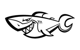 Shark vector icon. Shark Fin Swimming vector icon Stock Images