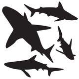 Shark vector silhouettes set. Stock Photography