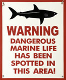 Shark warning sign Royalty Free Stock Image