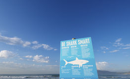 Shark warning Sign Stock Image