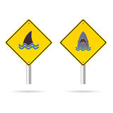 Shark yellow sign vector illustration Royalty Free Stock Images