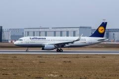 A320-200 Sharklets汉莎航空公司D-AIZQ 免版税库存照片