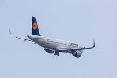 A320-200 Sharklets Lufthansa D-AIZQ immagine stock libera da diritti