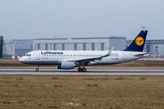 A320-200 Sharklets Lufthansa D-AIZQ Royalty Free Stock Photo