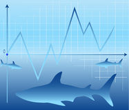 The sharks of business Stock Images