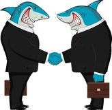 Sharks in business Stock Photos