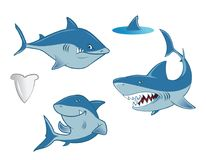 Sharks collection. Cartoon vector illustration of a sharks collection Royalty Free Stock Photography