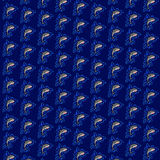 Sharks pattern on blue black background Stock Photo