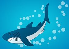 Sharks. Sea underwater background. Flat cartoon Vector illustrations. Sharks. Sea underwater background Flat cartoon Vector illustration Royalty Free Stock Image