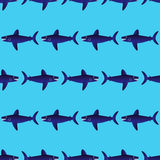 Sharks seamless pattern Stock Images